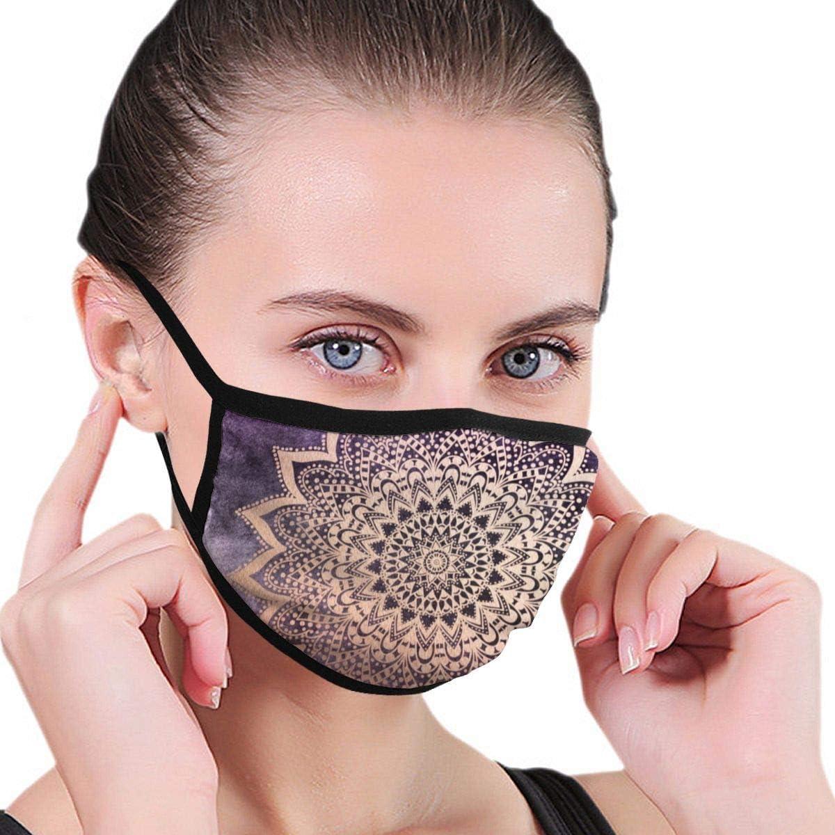 Na Gold Nights Mandala In Lila Mundmaske Mode Gesichtsmaske f/ür M/änner und Frauen Jungen und M/ädchen