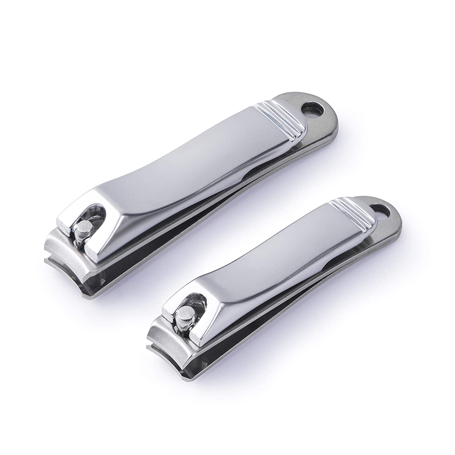 Attootric Stainless Steel Nail Clipper, Fingernail and Toenail Nail Clipper Set for Woman and Man Sharp Nail Cutter with Storage Bag, Set of 2 Luxman