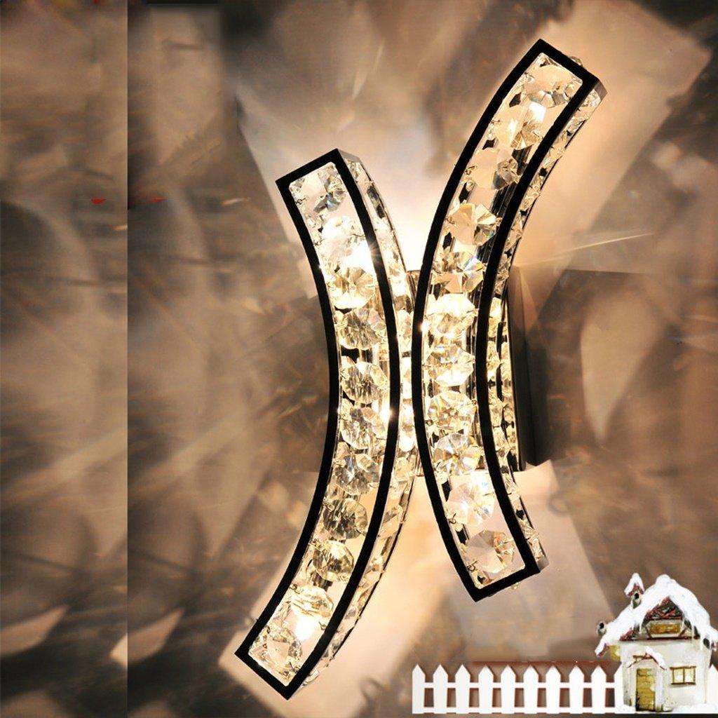 Europäischen Stil Wohnzimmer Kristall Wandleuchte Einfache TV Hintergrund Wandleuchte Warme Moderne Schlafzimmer Nachttischlampe