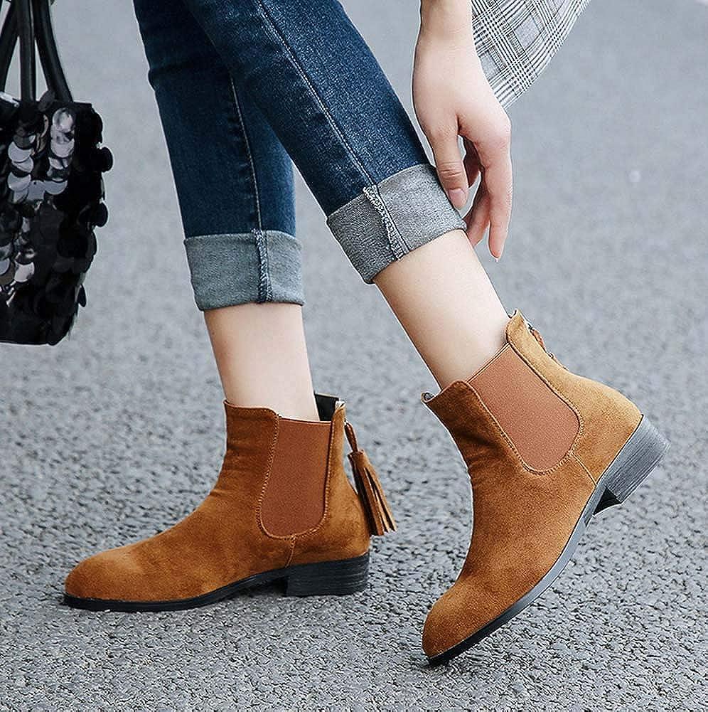 SHINIK Frauen Fashion Fashion Fashion Chelsea Stiefel 2018 Herbst Winter Bequeme Fringe Zurück Reißverschluss Stiefeletten 765248
