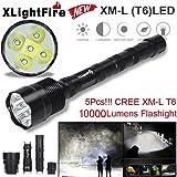 Clode® Tattiche 10000 Lumen 5 nuovo XML T6 LED Fiaccolate 5 Modalità di Caccia 18650