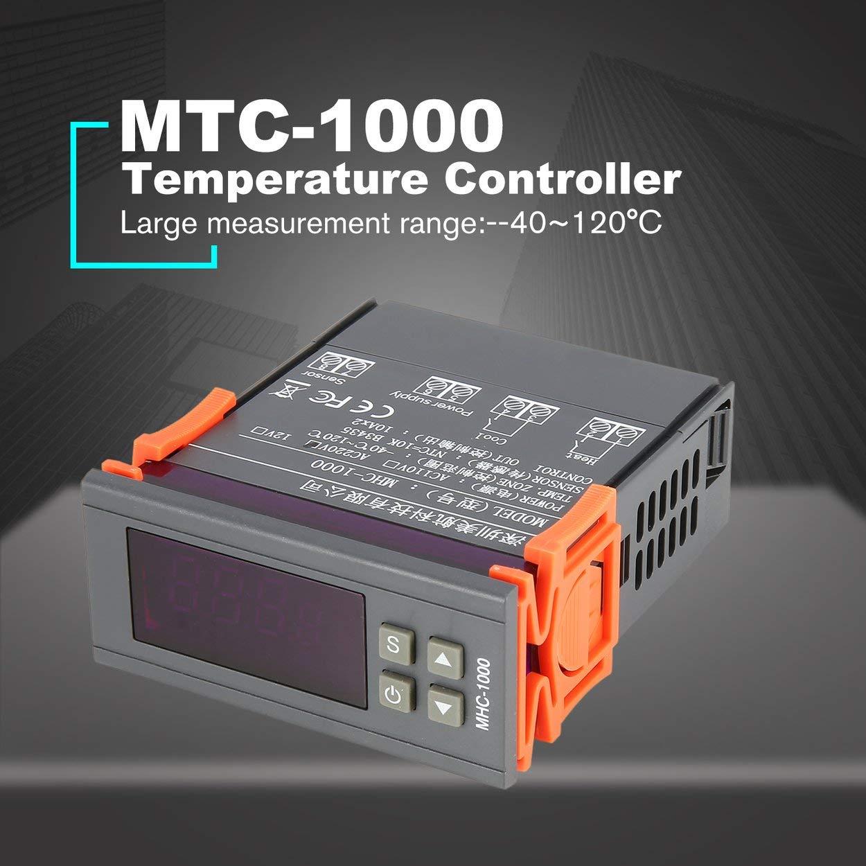 Lorenlli Fit MTC-1000 Digital PID Mikrocomputer Temperaturregler Wärme Kühlen Schalter Temperaturregler Themometer Thermostat AC 220 V