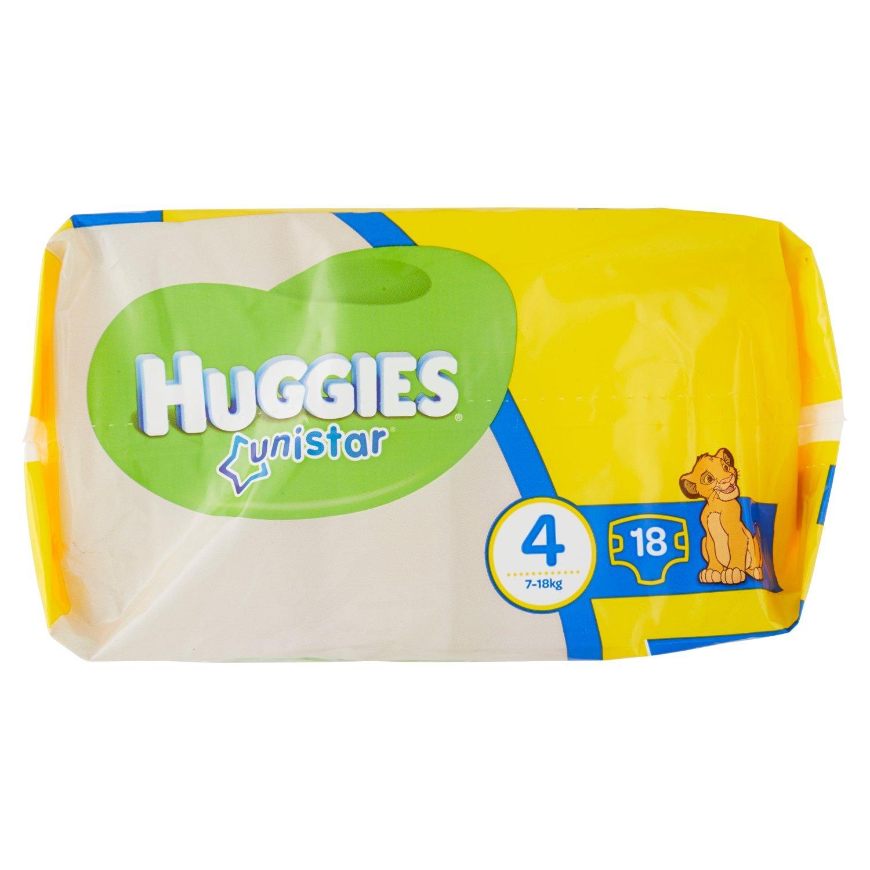 Huggies - Unistar - Pañales - Talla 4 (7-14 kg) - 18 pañales: Amazon.es: Salud y cuidado personal