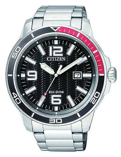 Citizen Hombre Reloj de Pulsera analógico Cuarzo Acero Inoxidable aw1520 – 51E