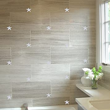 Pasific Ocean 22 Starfish, Size 5cm Width, Colour Metalic Silver , Bathroom  Tiles, Part 4