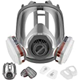 HAOX Reusable Gas Mask with Activated Carbon Air Filter, Protect Against Gas,Paint,Dust,Chemicals and Other Work Protection