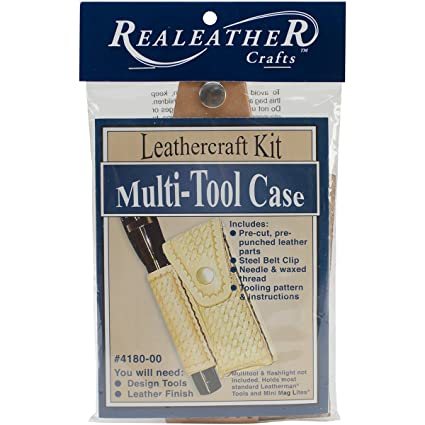 Amazoncom Realeather Crafts Multi Tool Sheath Kit Natural Arts