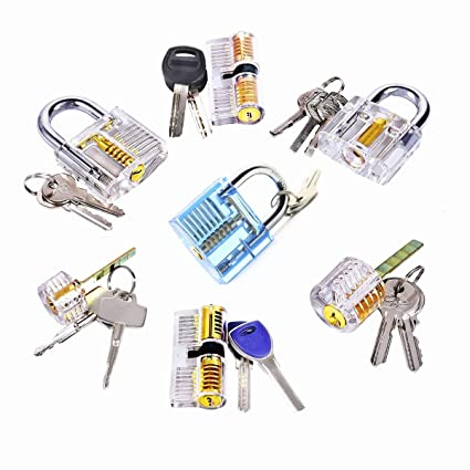 1eebbd772a96 Biglock 7 Pack Different Type Padlocks for Locksmith Practice ...