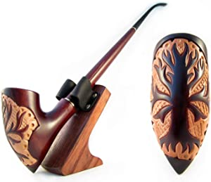 """Fashion - LOTR Engraving""""Tree of Gondor"""" Hobbit Long Tobacco Smoking Pipe of Pear Wood Pipe 33 cm / 13'' Churchwarden Hobbit and Gandalf Style,Designed for Pipe Smokers (Pipe Engraved)"""