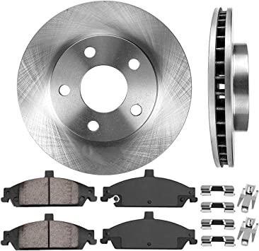 Brake Disc Rotors + CRK11290 FRONT 278 mm Premium OE 5 Lug 4 2 Metallic Brake Pads