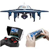 UDI U845 WiFi Voyager-WiFi FPV Drone RC Quadcopter UFO with 720P HD Camera, Bonus Battery Included, Upgrade Version