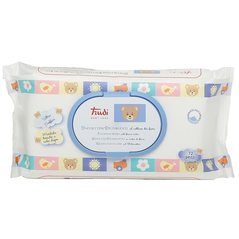 Trudi Baby 00429 Pflegetücher mit Blütennektar 72 Stück, weiß Liparus s.r.o.