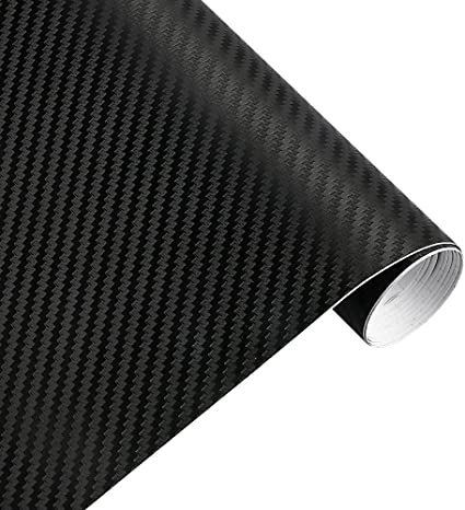 "2.5ft x60/"" 3D silver carbon fiber vinyl car wrap sheet roll film sticker decal"