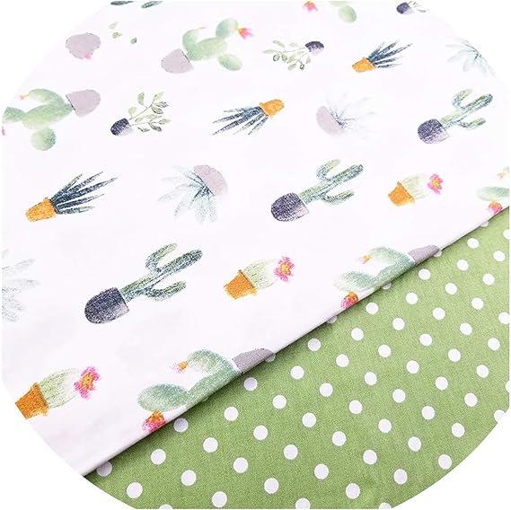 Tela de algodón con estampado de cactus, para niños, tela de retales de tela de algodón, material para bebés y niños: Amazon.es: Juguetes y juegos