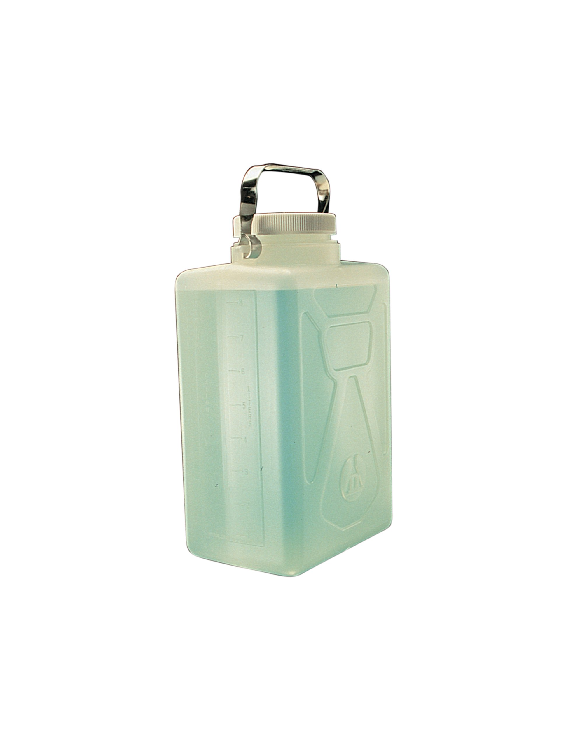Nalgene Polypropylene Rectangular Carboy with Stainless Steel Handle, 9L