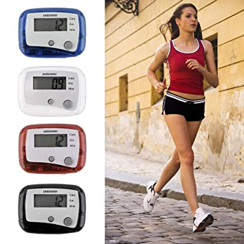 Sujetador de cinturón liviano para fácil Uso Mini Digital LCD Run Step Podómetro Distancia a pie Contador ABS hasta 99999 Pasos (Color: Blanco): Amazon.es: ...