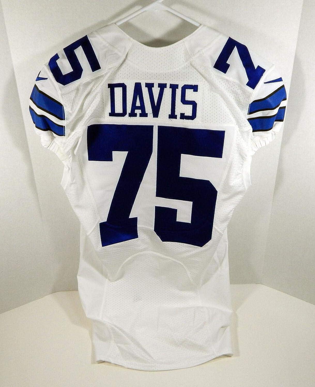 2016 Dallas Cowboys Ryan Davis #75 Game Issued White Jersey ...