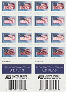 40-Count USPS US Flag 2019 Forever First Class Postage Stamps