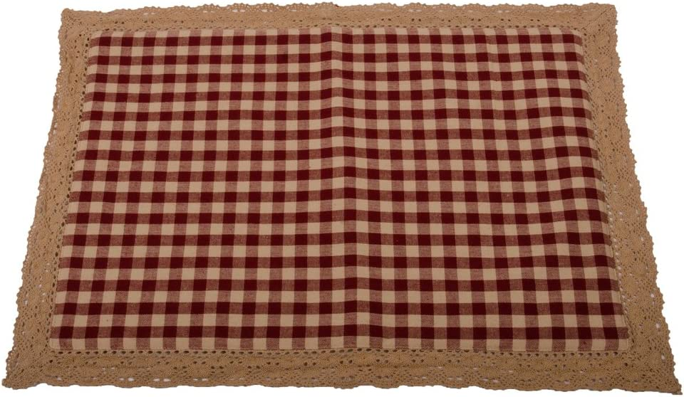 Home Collections by Raghu Heritage House Lace Placemat, Barn Red - Nutmeg