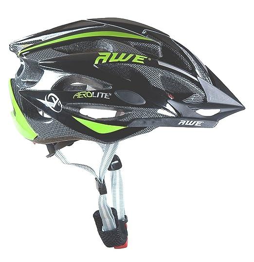 74 opinioni per AWE® AeroLite™ 24 Vents doppio In-Mould per Casco Bici Adulto 56-58cm Nero/verde