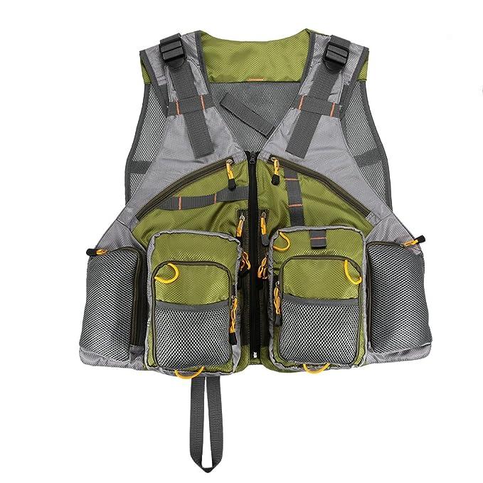 Lixada Gilet da Pesca Maglia Gilet Regolabile Pesca a Mosca per Gli Uomini e  le Donne Premium Gear Pack  Amazon.it  Abbigliamento 3629e99f22e