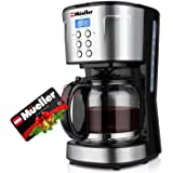 Mueller Ultra Coffee Maker, Programmable 12-Cup Machine, Multiple Brew Strength, Keep Warm