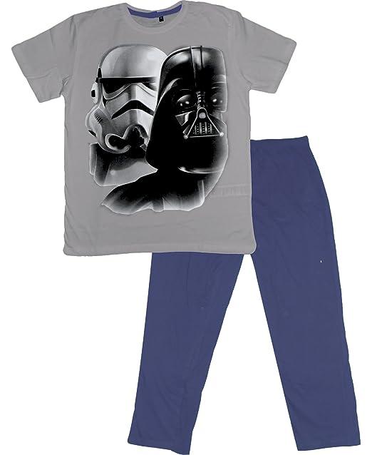 Star Wars Disney - Pijama - para Hombre Gris L