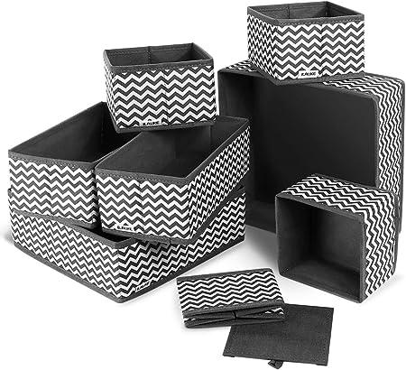 ilauke 8 Cajas Organizador de cajones Tela organizadores ...