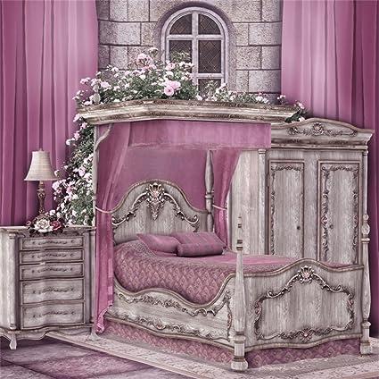 Amazon.com : LFEEY 6x6ft Fantasy Victorian Bedroom Backdrop Retro ...