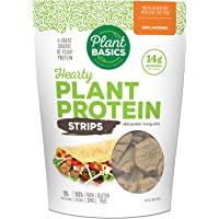 Plant Basics - Hearty Plant Protein - Unflavored Strips, Non-GMO, Gluten Free, Low Fat, Low Sodium, TVP, Vegan/Vegetarian, Meat Substitute, 16 ounce bag