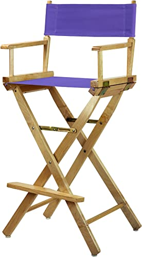 Casual Home 230-00 021-41 Director s Chair Canvas 30 – Bar Height Natural Frame Purple