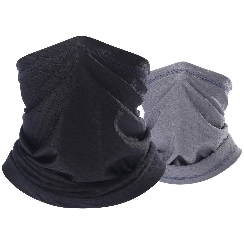 BINMEFVN Summer Face Mask - Dust Sun Wind UV Protection Neck Gaiter Bandana- Light Thin Non Slip & Breathable
