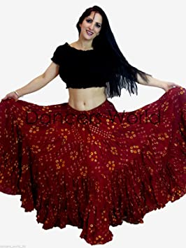 Dancers World 2pieza Lunares 25 Yard algodón Falda Tribal Gitana ...