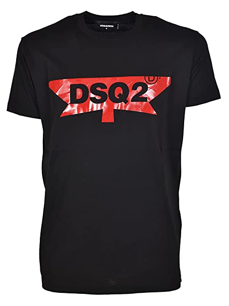 DSQUARED2 T-Shirt con Stampa Logo craquelé S74GD0357S22427900 Nero Uomo  XXL  Amazon.it  Abbigliamento 54c98fdcf7ed