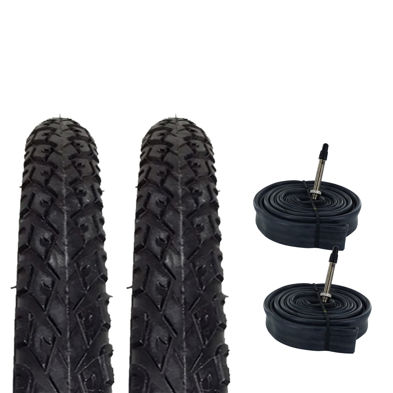 Zol Bundle 2 Pack Z2011 Urban Hybrid Tires and Tube 700x38C, French 48MM Valve by Zol