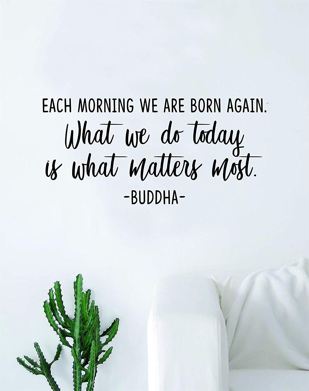 Amazon.com: ROTE Each Morning We Are Born Again Quote Decal ...