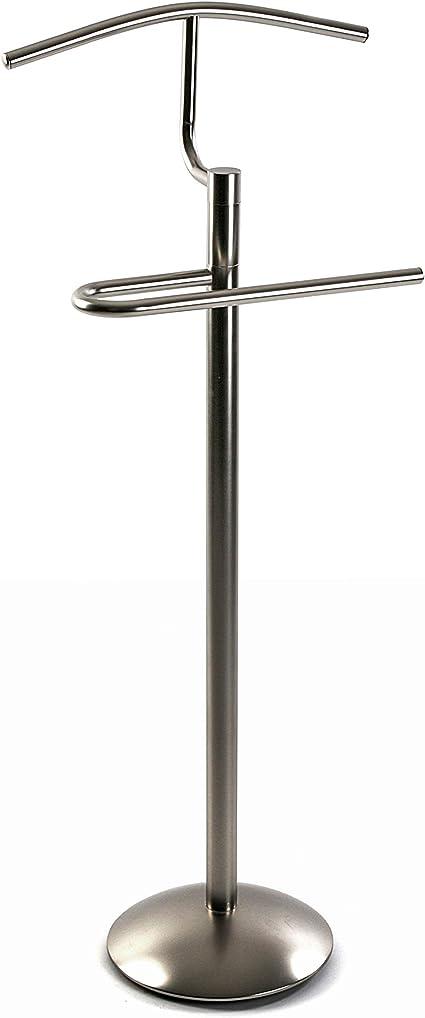 Versa Galán De Noche Mueble Metálico Oakley, Metal, Plateado, 40X28X112 Cm