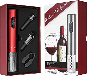 Yugoo Automatic Electric Wine Bottle Opener Gift Set