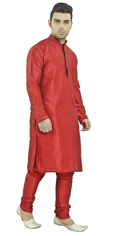 SKAVIJ Hommes Kurta Pajama Ensemble de Indien Robe Ethnique