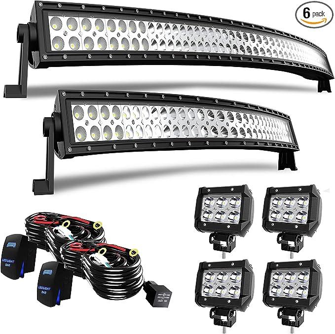 Amazon.com: Barra de luz LED de 52 pulgadas + barra de luz ...
