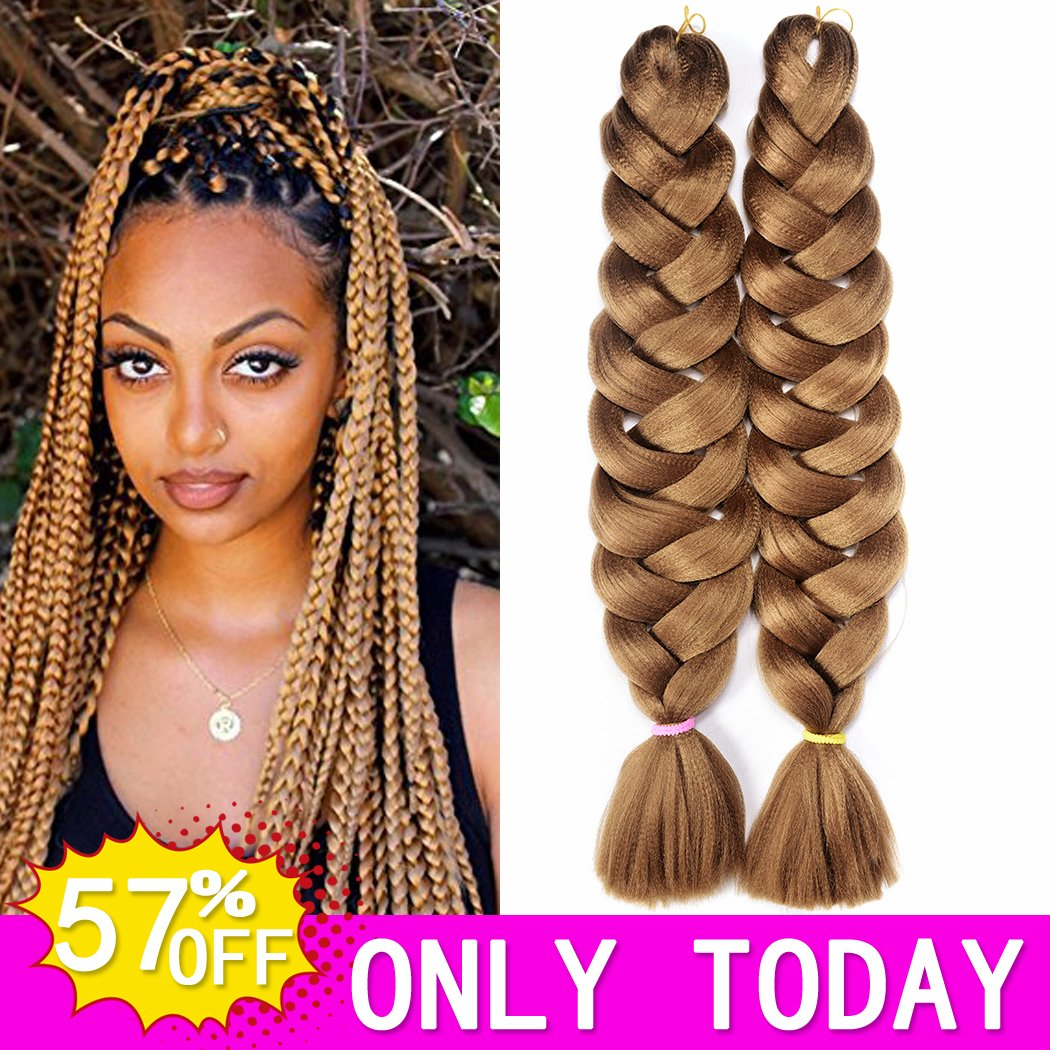 Amazon Hvaxing 82 Inch Ombre Jumbo Braiding Hair Extensions
