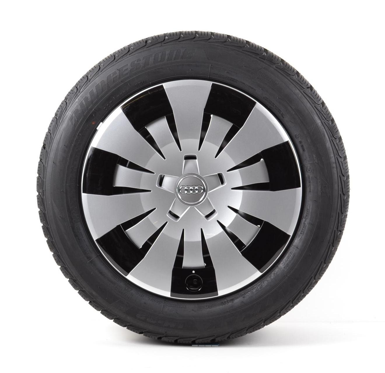 Audi Original Invierno Completo de rueda 16 pulgadas Audi A3 8 V Acero Bridgestone Neumáticos: Amazon.es: Coche y moto