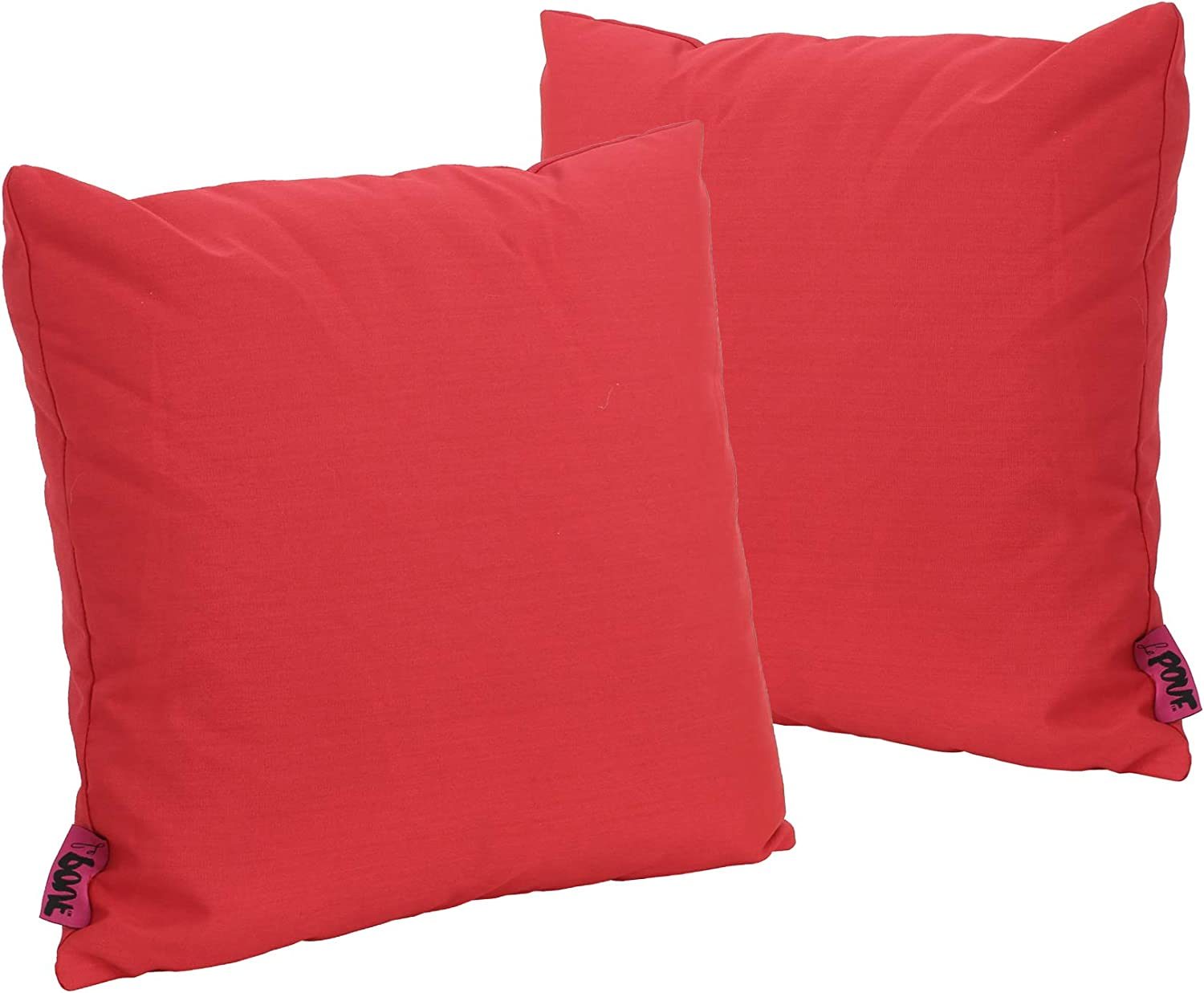 Christopher Knight Home Coronado Outdoor Red Water Resistant Square Throw Pillow Set of 2
