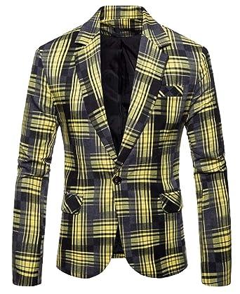 ShuangRun - Vestido de Tweed a Cuadros con un Solo botón, Ajuste ...