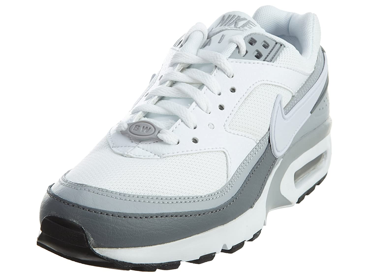 NIKE Air Max BW Boy's Running Shoes B01JJDRU9C 4.5 M US|Wolf Grey/White-cool Grey-black