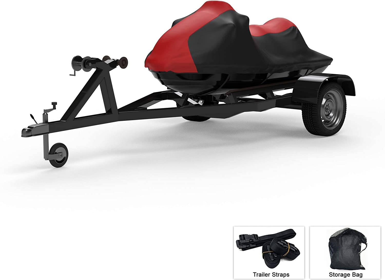 Includes Trailer Straps and Storage Bag Protects from Rain Multiple Color Options UV Rays Weatherproof Jet Ski Covers for SEA DOO GTX is 215 2010-2013 Trailerable Sun and More All Weather