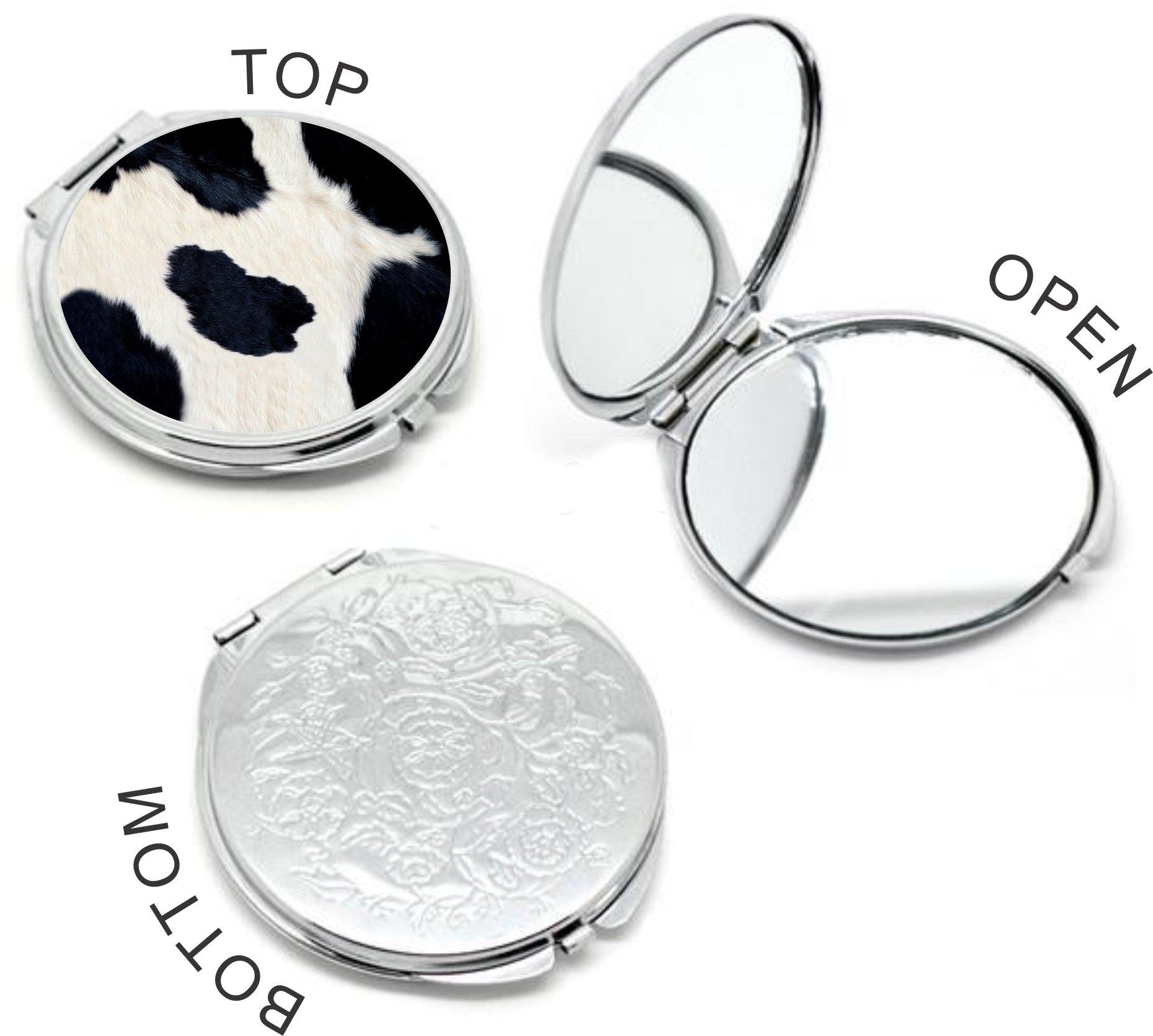 Rikki Knight Cow Hide Design Round Compact Mirror