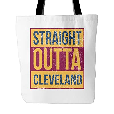 Straight Outta Cleveland Basketball Tote Bag, 18 inches x 18 inches