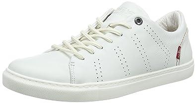 a2adf997e5d45 Levi s Vernon, Baskets Hommes, Blanc (Noir Regular White 51), ...