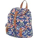 More4bagz Ladies Womens Owl Fox Horse Canvas Rucksack Backpack Shoulder School College Gym Bag W Faux Leather Trim